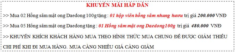 khuyen-mai-sam-mat-ong-daedong-100g