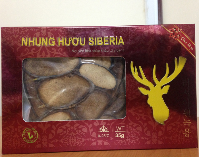 Hộp quà tặng nhung hươu siberia