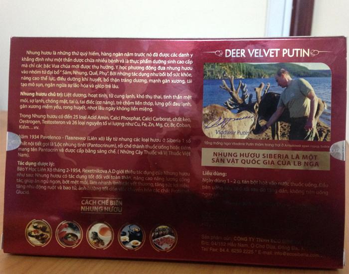 Sản phẩm hộp quà tặng nhung hươu Siberia