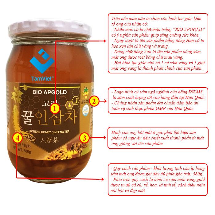 sâm tươi ngâm mật ong
