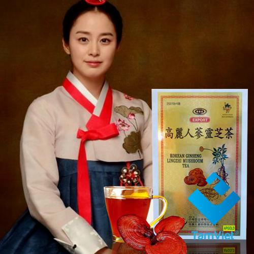 trà nhân sâm nấm linh chi Hàn Quốc